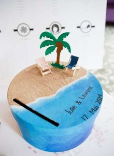 Discover recipes, home ideas, style inspiration and other ideas to try. Card Box Wedding, Wedding Guest Book, Diy Wedding, Wedding Gifts, Wedding Ideas, Tropical Party, Shell Crafts, Event Decor, Event Ideas