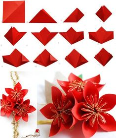 "Everybody knows about origami, the Japanese art of paper folding. But what is it that can make origami so magical, so engaging and so deeply touching? The name of origami is derived from Japanese terms oru, which means ""to fold"",… Continue Reading → Origami Flowers Tutorial, Easy Origami Flower, Origami 3d, Paper Crafts Origami, Paper Crafts For Kids, Diy Paper, Paper Crafting, Oragami, Origami Flower Bouquet"