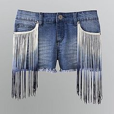 Fringe-Front Denim Shorts    We all know jean shorts are the perfect pick for a backyard bbq, but why wear basic denim shorts when you can stride in style with these?     Shorts like these not only dress up any top, but the wash is a perfect shade to compliment any color as well.    #PinItTODAY