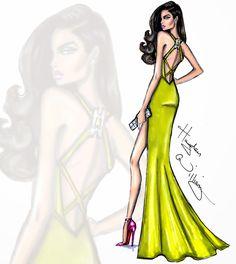 #Hayden Williams Fashion Illustrations #'Vivid Impact' by Hayden Williams