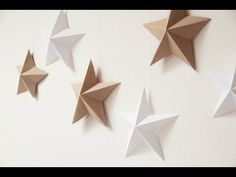 How to make Christmas Paper Stars (easy DIY tutorial) Diy For Kids, Origami, Coasters, Gift Wrapping, Baby Shower, Homemade, Activities, Christmas, Home Decor