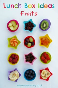 Eats Amazing - Lunch Box Food Ideas - 12 ideas for different fruits to include in your lunch box