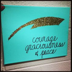 Courage, graciousness, and peace