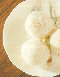 Coconut Balls, Dessert, Chinese Recipe, Chinese Food Recipe