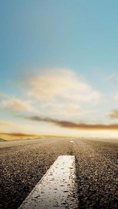 Nature Horizon Roads iPhone 5s Wallpaper