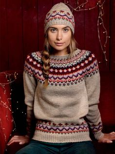 Ideas For Knitting Patterns Free Jumper Fair Isles Jumper Knitting Pattern, Fair Isle Knitting Patterns, Knit Patterns, Free Knitting, Knitting Sweaters, Tejido Fair Isle, Punto Fair Isle, Baby Born Kleidung, Norwegian Knitting