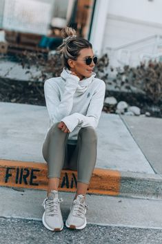 My Latest Obsession in Athleisure Casual Outfit casual sporty outfits Mode Outfits, Sport Outfits, Summer Outfits, Gym Outfits, Winter Outfits, Fall Workout Outfits, Winter Workout Clothes, Winter Clothes, Winter Workout Outfit