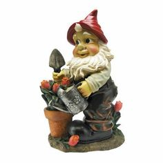 Outdoor Décor-Design Toscano Gustav the Gardening Gnome Statue *** For more information, visit image link.