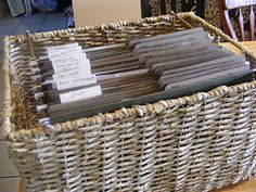 DIY file basket - such a great idea for organizing paper clutter!