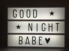 Goodnight babe lightbox