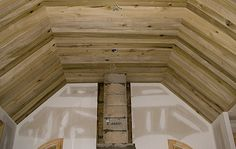 wood ceilings | The wide tongue and groove poplar lumber in this ceiling came from ...
