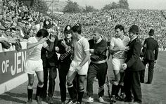 West Germany 4 Uruguay 0 in 1966 at Hillsborough. Sent off 5 minutes later was Hector Silva, it took the Police to get him off in the World Cup Quarter Final. 1966 World Cup Final, Finals, Germany, Take That, Police, Sports, Uruguay, Sport, Final Exams