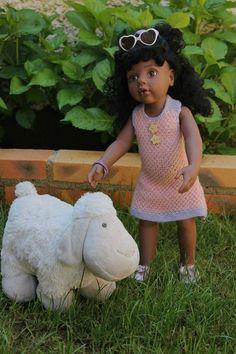 Tuto robe trapèze pour poupée GOTZ