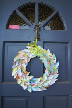 Diy Map Wreath | Easy DIY Decoration Using Old Maps | www.diyprojects.com/32-inventive-uses-for-old-maps/