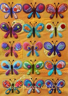 Craftsy, Butterfly Sampler Kit from Sue Spargo. Folk Art Quilt Quilting Ribbons Supplies Hand Dyed Velvet Wool Electric Quilt CD For Sale Ohio