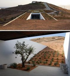 Coolest underground homes | Hometone - see walls for gardening