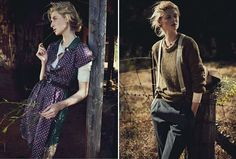 Rustic dress with sweater underneath