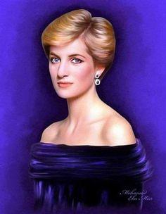 Princess Diana artwork.