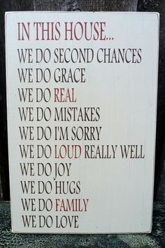 For our kitchen - Custom Handpainted Rustic Wooden House Rules by RusticPineDesigns, $45.00