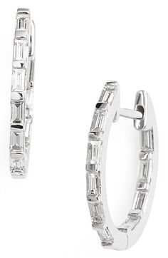 Bony+Levy+Baguette+Diamond+Small+Inside+Out+Hoop+Earrings+(Nordstrom+Exclusive)+available+at+#Nordstrom