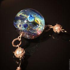 Купить Волшебный шар:) .VIP Кулон-колье. - лемпворк, космос, галактика, стекло, авторский кулон