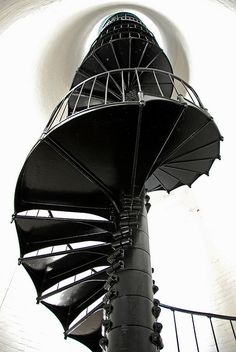 Lighthouse staircase in Key Biscayne, Florida