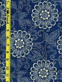 indigo floral fabric - Beautiful Fabric Store – An Online Decorator Fabric Shop Motifs Textiles, Textile Patterns, Textile Design, Fabric Design, Print Patterns, Pattern Fabric, Blue And White Fabric, Blue Fabric, Floral Fabric