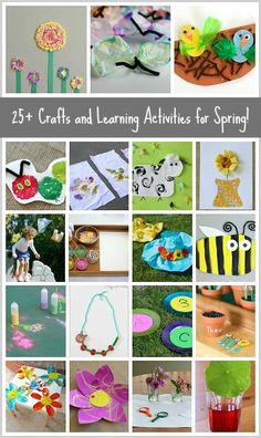 25+ Spring Crafts and Spring Activities for Kids- including butterfly crafts, caterpillar crafts, flower crafts and more!