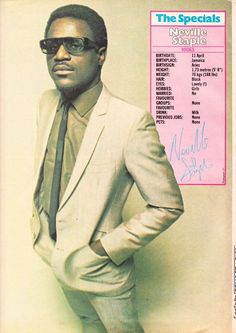 Neville Staple. Music Articles, Acid House, Teddy Boys, Rude Boy, Northern Soul, Fulham, I Love Music, Save The Queen, Soul Music