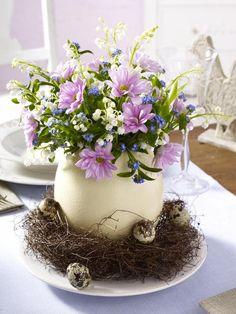 flowers in nest