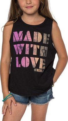 679d8f653 Amazon.com: O'Neill Kids Womens Made With Love Rylee Tank Top (