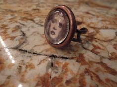 ROCK GODDESS Stevie Nicks Photo Ring Copper by  DreamALittleDesigns,18