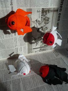 For Stephanie Felt Fish goldfish Animals Sea, Water Animals, Felt Animals, Fish Crafts, Cat Crafts, Sewing Crafts, Fuzzy Felt, Wool Felt, Softies