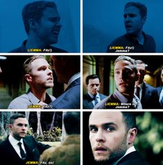 When Jemma calls Fitz's name and he turns his head to find her. Marvel's Agents of S.H.I.E.L.D. FitzSimmons
