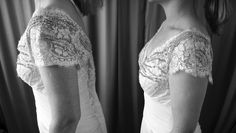 before and after wedding dress alterations After Wedding Dress, Tea Length Wedding Dress, Bridal Alterations, Dress Alterations, Wedding Dance Songs, Something Borrowed, Bridal Dresses, College Fund, Lace