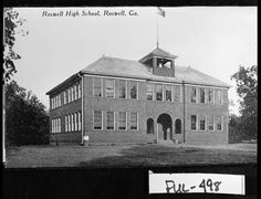 Roswell High School.  Georgia Archives collection.  1911.