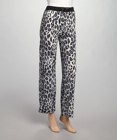 Another great find on #zulily! Gray & Black Leopard Lounge Pants - Women & Plus by Lake Matley #zulilyfinds