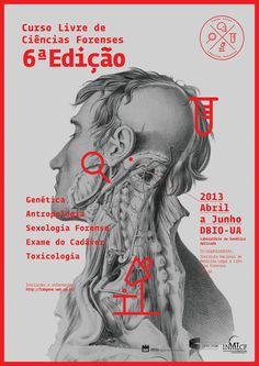Ciências Forenses by Horta Studio graphic poster type