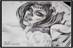 Miss Latisha Wood...Someday I will have you do my sugar skull tattoos...