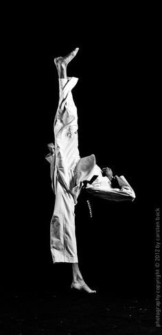 "♂ Black & white photo martial art ""Perpendicular!"" by Carsten Bock"
