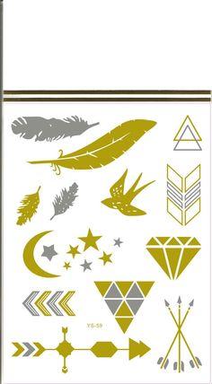 Arany tetováló matrica