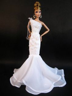 """100% Hand Made With High Quality By Eaki. Barbie Model Muse Silkstone,Fashion Royalty,Candi,Charice And Other Similar Size 11""""-12"""" Doll. Doll , Jewelry , Shoes , Glove and Doll Stand are Not Included."""