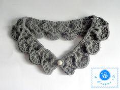 crochet pearl drops collar