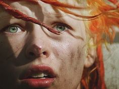 Milla Jovovich as Leeloo in The Fifth Element her facial expressions in this movie, brilliant.