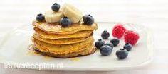 Kleine pannenkoekjes met banaan