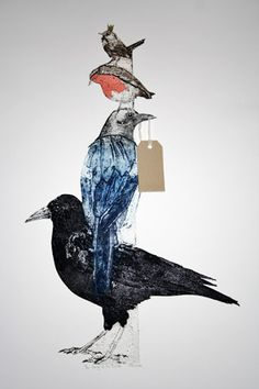 Sue Brown has been a professional artist for 15 years. Her work is inspired by nature and been driven by exploring intaglio printmaking techniques. Intaglio Printmaking, Collagraph, Drypoint Etching, Big Bird, Small Birds, Collage Illustration, Bird Prints, Pictures To Paint, Bird Art