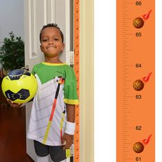 Patent Pending Mom Approved Basketball PeekaBoo Growth Charts Track & Measure your Kid's Height. Fits in Standard Door Jamb, Removable & Reusable, Self-Adhesive [72 x 1.25 Inches] available on Etsy, Amazon, Ebay and www.momapproved.net