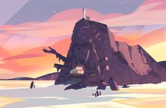A selection of Backgrounds from the Steven Universe episode: Cry For Help Art Direction: Jasmin Lai Design: Steven Sugar and Emily Walus Paint: Amanda Winterstein and Ricky Cometa Steven Universe Background, Steven Universe Wallpaper, Storyboard, Cartoon Network, Episode Backgrounds, Color Script, Cartoon Background, Universe Art, Sky Art