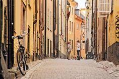 Die Altstadt von Stockholm:  Gamla stan  im Stadtbezirk Södermalm.