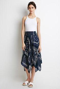 I want this so bad!!  Smocked Bandana Print Skirt | Forever 21 - 2002247073